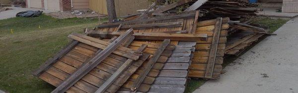 Демонтаж деревянного забора