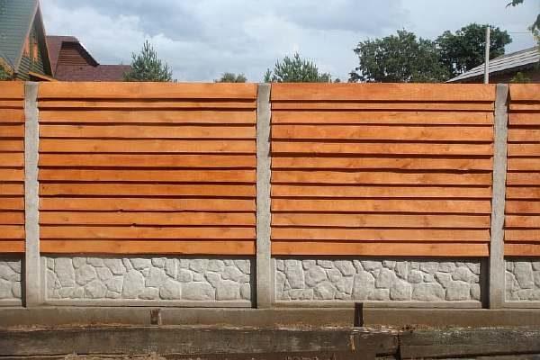 Деревянный забор своими руками на даче