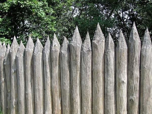 Забор на участке