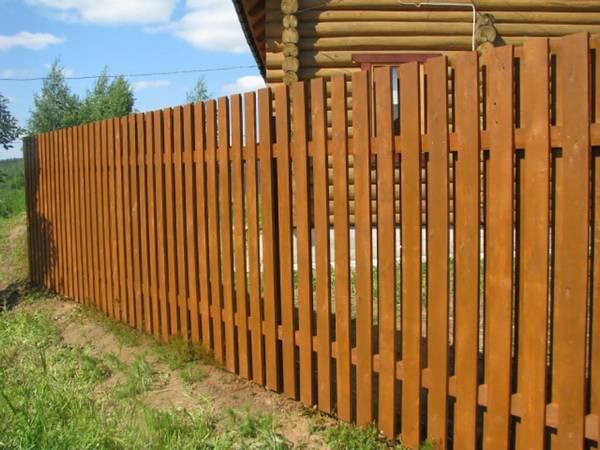 Дешевый временный забор на участке