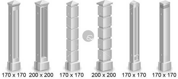 Многообразие изделий из бетона