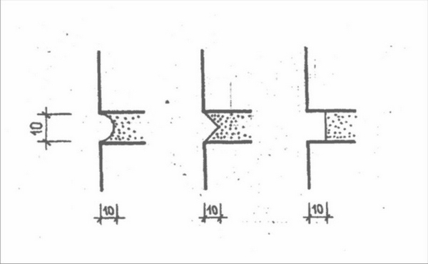 Выбор формы шовного соединения