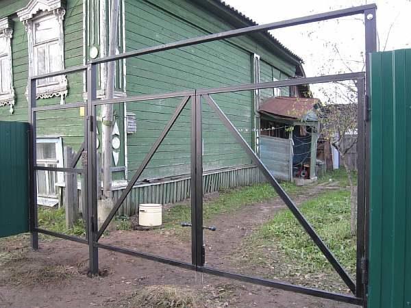 Ворота без сварки на болтах