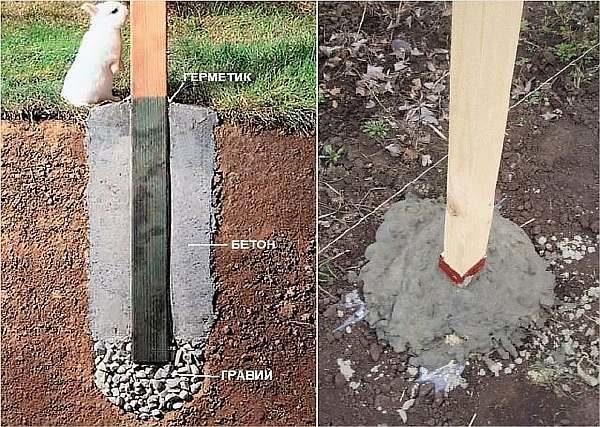 Схема бетонирования опоры