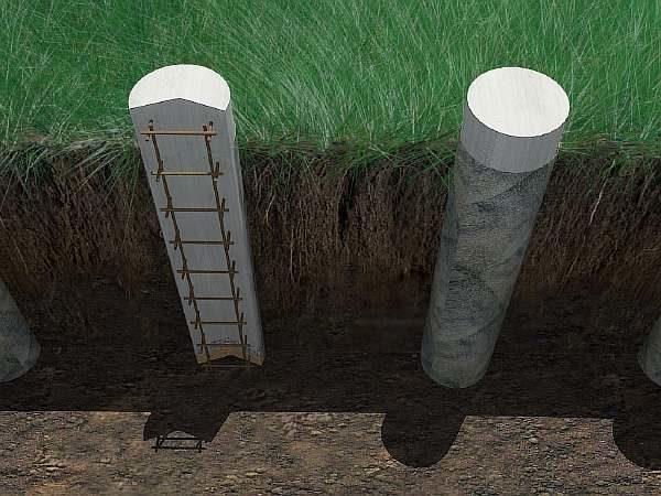 Схема бетонной опоры