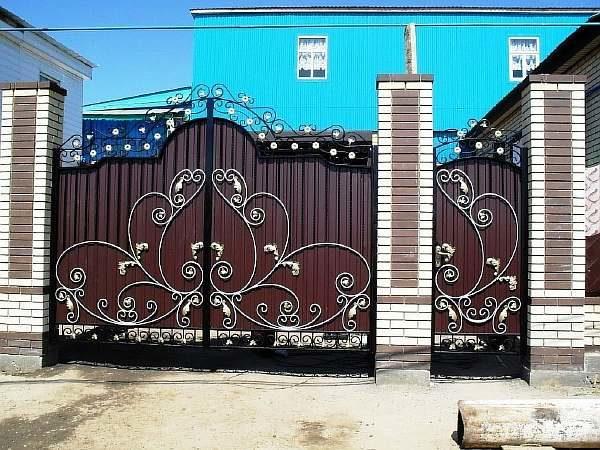 Узоры на воротах из металла своими руками: фото, картинки, видео