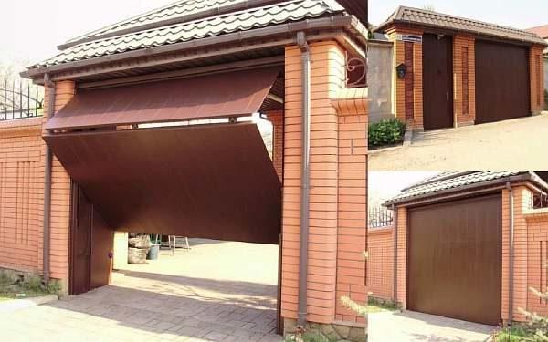 Ворота частного дома