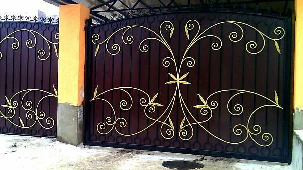 Ковка на воротах